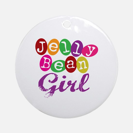 Jelly Bean Girl Ornament (Round)