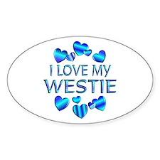 Westie Oval Decal