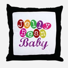 Jelly Bean Baby Throw Pillow