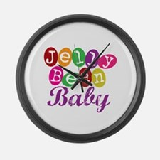 Jelly Bean Baby Large Wall Clock