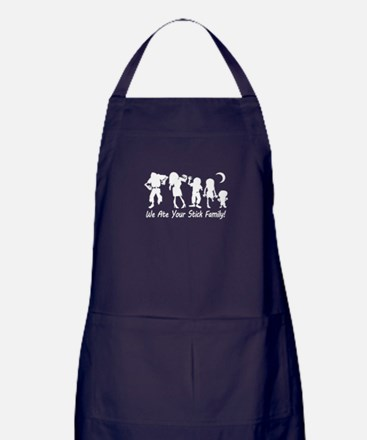 We Ate Your Stick Family Apron (dark)