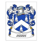 Rudde Coat of Arms Small Poster