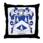 Rudde Coat of Arms Throw Pillow
