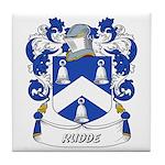 Rudde Coat of Arms Tile Coaster