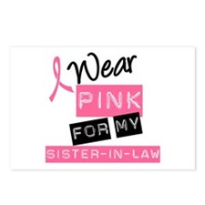 I Wear Pink Sister-in-Law Postcards (Package of 8)
