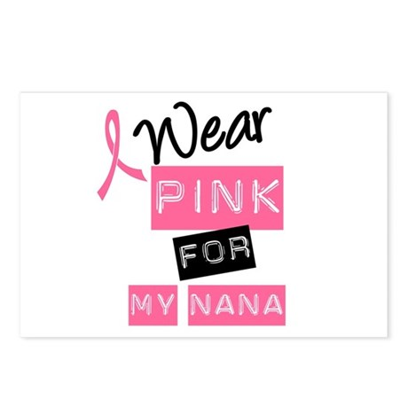 I Wear Pink For My Nana Postcards (Package of 8)