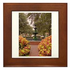 Savannah GA Fountain Framed Tile