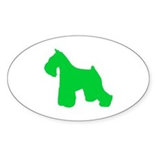 Miniature Schnauzer St. Patty's Day Oval Decal