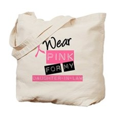 I Wear PInk Daughter-in-Law Tote Bag