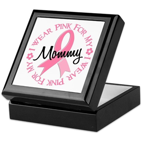I Wear Pink For My Mommy 38 Keepsake Box