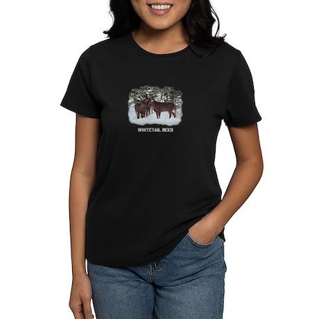 Whitetail Deer Family Women's Dark T-Shirt
