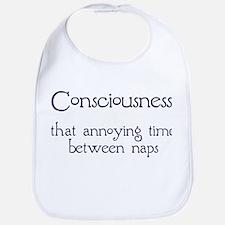 Consciousness Naps Bib