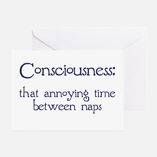 Consciousness Naps Greeting Card