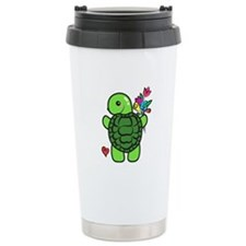 Cute Green turtle Travel Mug