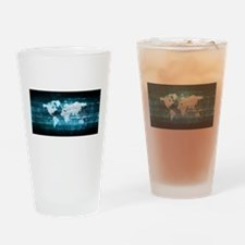 Digital Global Technology Concept A Drinking Glass