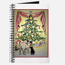 Christmas tree dog & cat Journal