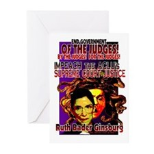 IMPEACH RUTH BADER GINSBURG! Greeting Cards (Packa
