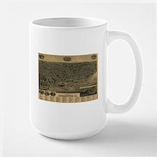 Vintage Pictorial Map of Burlington Iowa (188 Mugs