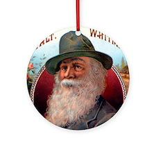 Walt Whitman Ornament (Round)
