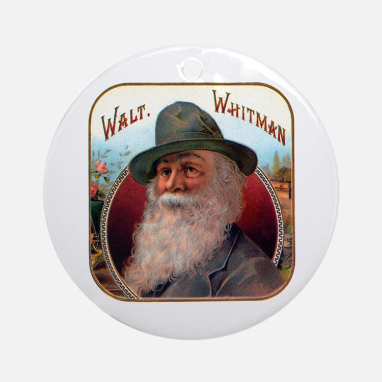 Walt Whitman Ornament (Round)