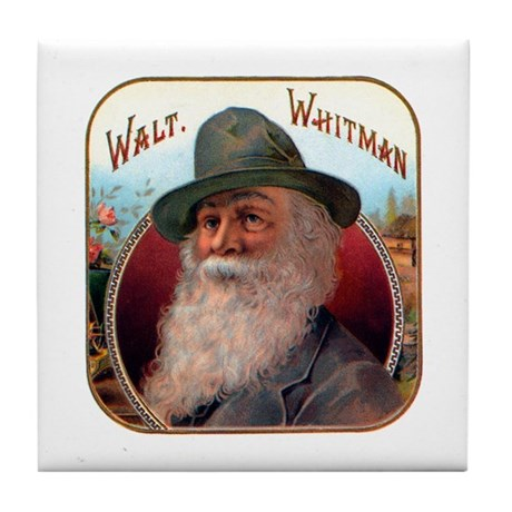 Walt Whitman Tile Coaster