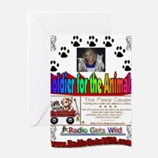 Soldier For The Animals desig Greeting Card