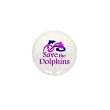 Save the Dolphins Mini Button (10 pack)
