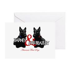 Barney & Miss Beazley Greeting Card