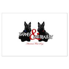 Barney & Miss Beazley Large Poster