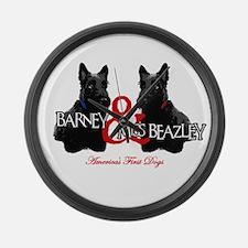 Barney & Miss Beazley Large Wall Clock