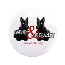 "Barney & Miss Beazley 3.5"" Button (100 pack)"