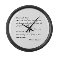 Kennedy to Obama Large Wall Clock