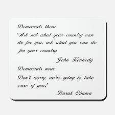 Kennedy to Obama Mousepad
