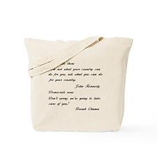 Kennedy to Obama Tote Bag