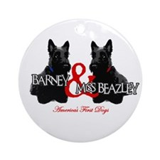 Barney & Miss Beazley Ornament (Round)
