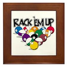 Rack Em Up Pool Framed Tile