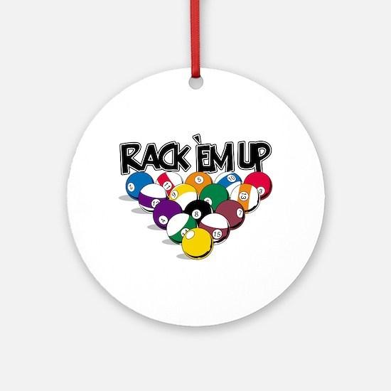 Rack Em Up Pool Ornament (Round)