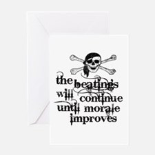 Unique Beating humor Greeting Card