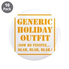 "Generic Holiday Gear 3.5"" Button (10 pack)"
