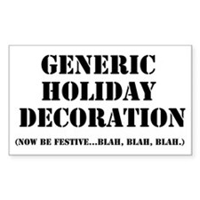 Generic Holiday Gear Rectangle Decal