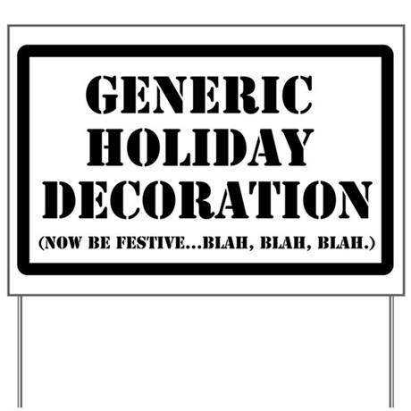 Generic Holiday Gear Yard Sign