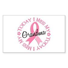 I Miss My Grandma 2 BREAST CANCER Decal