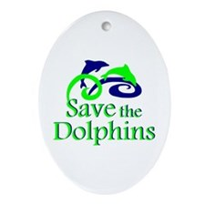 Save the Dolphins Oval Ornament