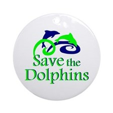 Save the Dolphins Ornament (Round)