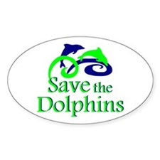 Save the Dolphins Oval Decal