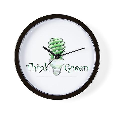 Think Green Wall Clock