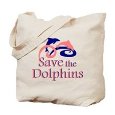 Save the Dolphins Tote Bag