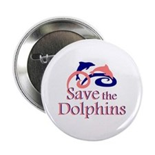 "Save the Dolphins 2.25"" Button"