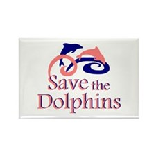 Save the Dolphins Rectangle Magnet