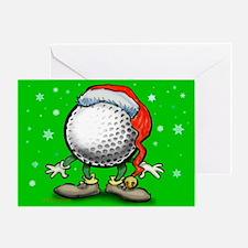 2-Golfmas Card Greeting Cards